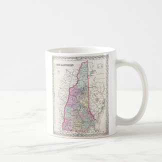 Vintage Map of New Hampshire (1855) Mug