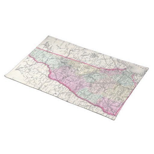 Vintage Map of New Hampshire (1855) Place Mat