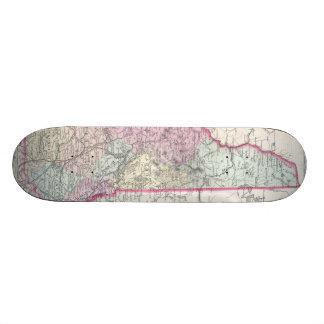 Vintage Map of New Hampshire 1855 Skateboard Deck
