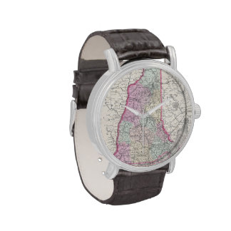 Vintage Map of New Hampshire (1855) Wristwatch