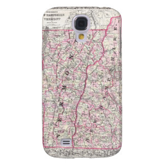 Vintage Map of New Hampshire and Vermont 1861 Samsung Galaxy S4 Case
