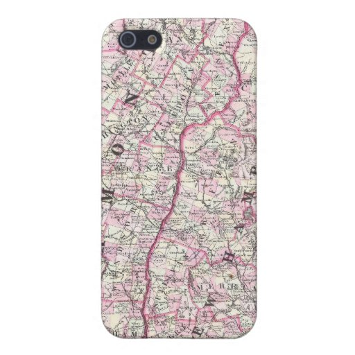 Vintage Map of New Hampshire and Vermont (1861) iPhone 5 Case