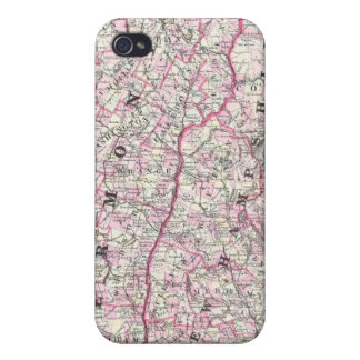 Vintage Map of New Hampshire and Vermont (1861) iPhone 4/4S Cover