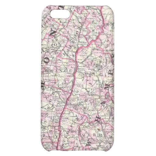 Vintage Map of New Hampshire and Vermont (1861) iPhone 5C Covers