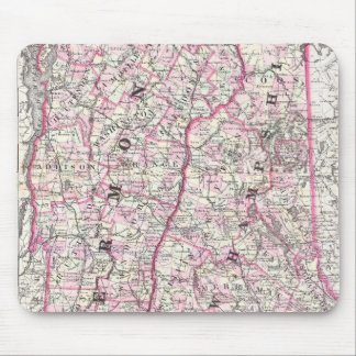 Vintage Map of New Hampshire and Vermont (1861) Mouse Pad
