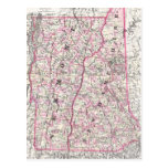 Vintage Map of New Hampshire and Vermont (1861) Post Cards