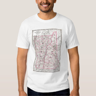 Vintage Map of New Hampshire and Vermont (1861) Shirts
