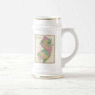 Vintage Map of New Jersey (1827) Beer Steins