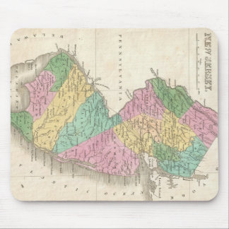 Vintage Map of New Jersey (1827) Mouse Mat