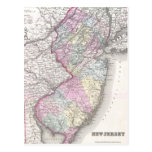 Vintage Map of New Jersey (1855) Post Card