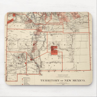 Vintage Map of New Mexico (1882) Mouse Pad