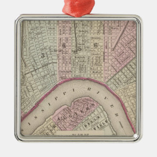 Vintage Map of New Orleans (1880) Christmas Ornament