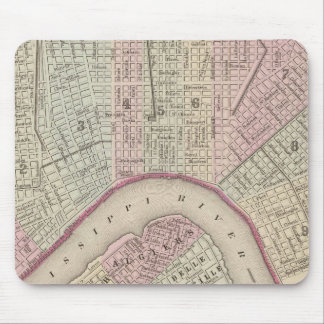 Vintage Map of New Orleans (1880) Mouse Mat