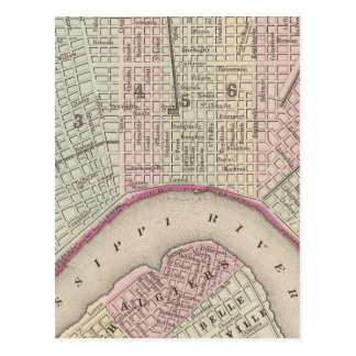 Vintage Map of New Orleans (1880) Postcard