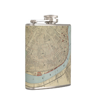 Vintage Map of New Orleans (1919) Hip Flask