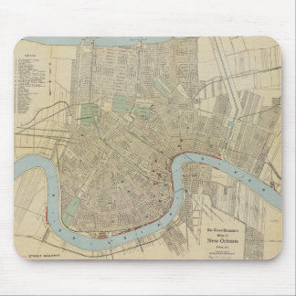 Vintage Map of New Orleans (1919) Mouse Mat