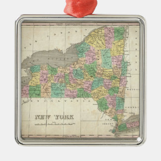 Vintage Map of New York (1827) Christmas Ornament