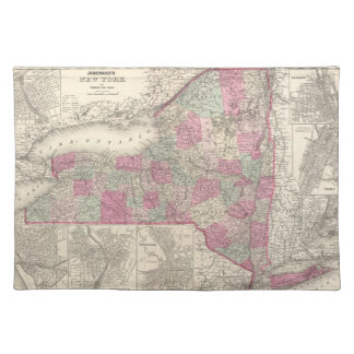 Vintage Map of New York (1864) Placemat