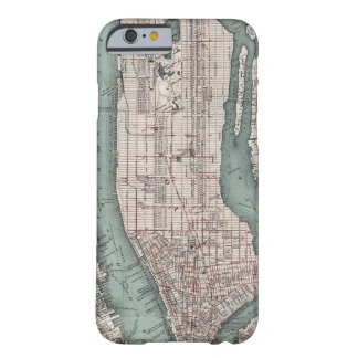Vintage map of New York (1897) Barely There iPhone 6 Case