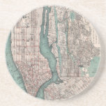 Vintage map of New York (1897) Coasters