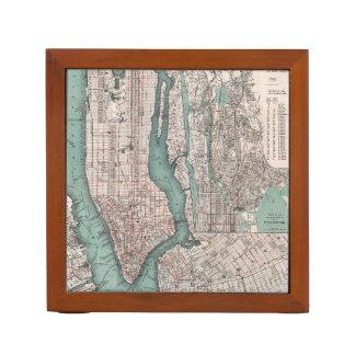 Vintage map of New York (1897) Desk Organiser