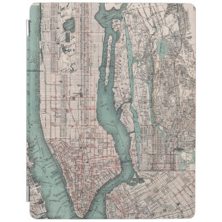 Vintage map of New York (1897) iPad Cover