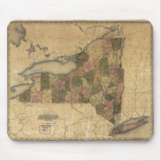 Vintage Map of New York by Henry S. Tanner (1823) Mouse Pad