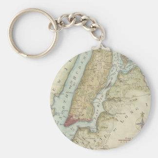 Vintage Map of New York City (1869) Key Ring
