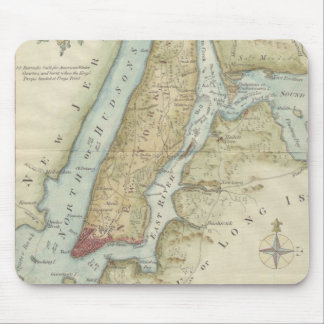 Vintage Map of New York City (1869) Mouse Mat