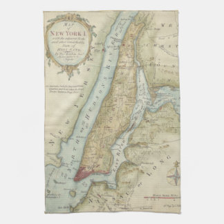 Vintage Map of New York City (1869) Tea Towel