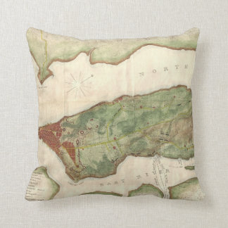 Vintage Map of New York City (1878) Cushion