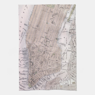 Vintage Map of New York City (1884) Tea Towel