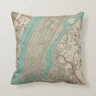 Vintage Map of New York City (1890) Cushion