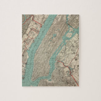 Vintage Map of New York City (1890) Jigsaw Puzzle