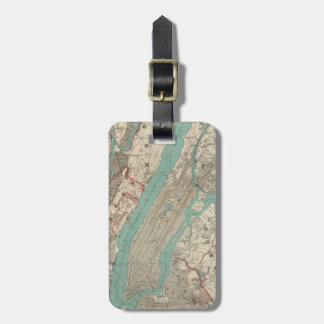 Vintage Map of New York City (1890) Luggage Tag