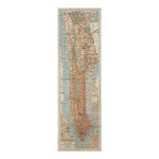 Vintage Map of New York City (1894) Print