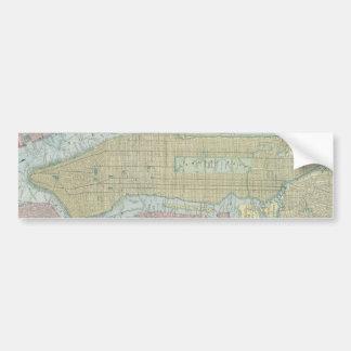 Vintage Map of New York City (1901) Bumper Sticker