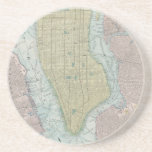 Vintage Map of New York City (1901) Drink Coaster