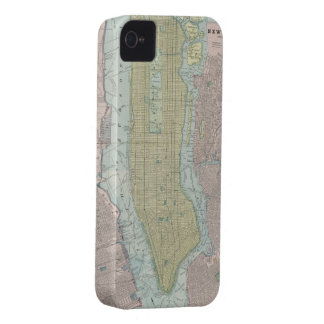 Vintage Map of New York City (1901) iPhone 4 Case-Mate Cases