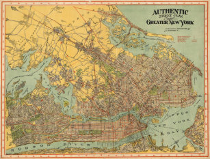 Map Of Greater New York City.Vintage New York City Map Posters Prints Zazzle Uk