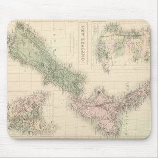 Vintage Map of New Zealand (1854) Mouse Mat