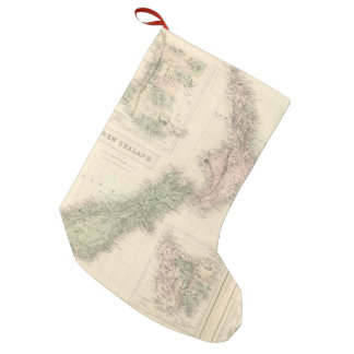 Vintage Map of New Zealand (1854) Small Christmas Stocking