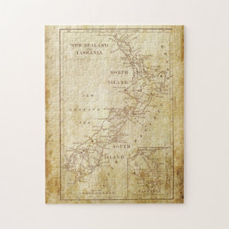 Vintage map of New Zealand c1879 Jigsaw Puzzle