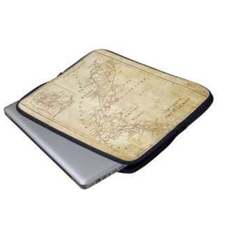 Vintage map of New Zealand c1879 Laptop Sleeve