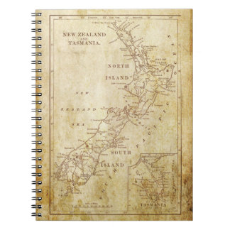 Vintage map of New Zealand c1879 Notebooks