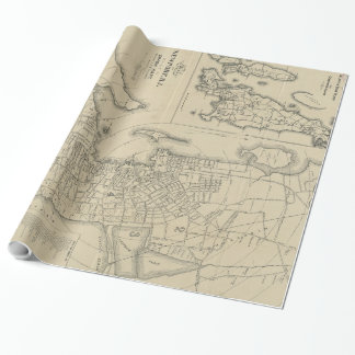 Vintage Map of Newport Rhode Island (1901) Wrapping Paper