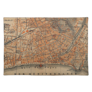 Vintage Map of Nice France (1914) Placemat
