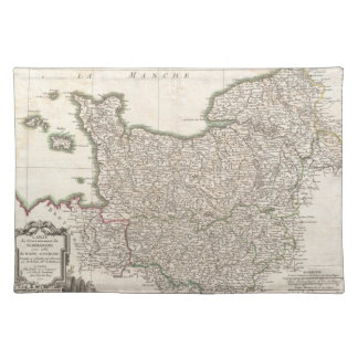 Vintage Map of Normandy (1771) Place Mats
