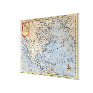 Vintage Map of North America (1747) Canvas Prints