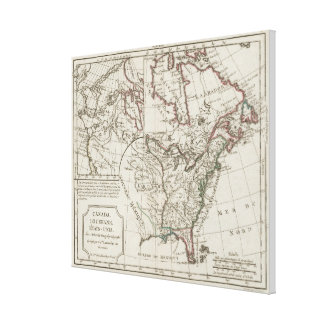 Vintage Map of North America (1795) Stretched Canvas Print